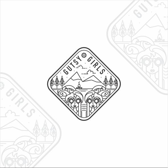 Explorer logo with the title 'Unique design for an adventure club'