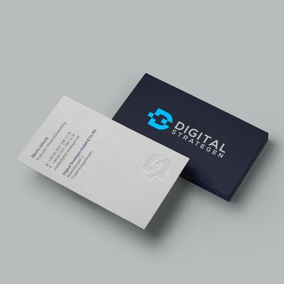 Letterpress Business Cards for Digital Strategen