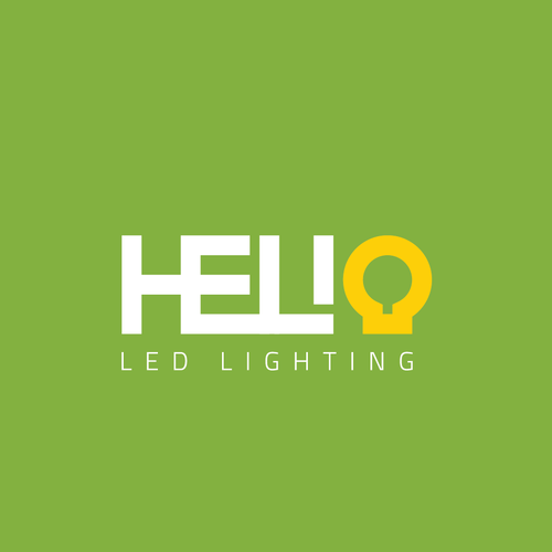 LED design with the title 'Logo concept for Helio LED Lighting'