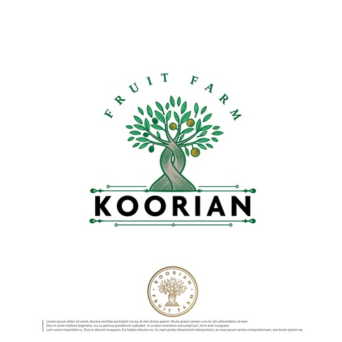 Olive design with the title 'Koorian'
