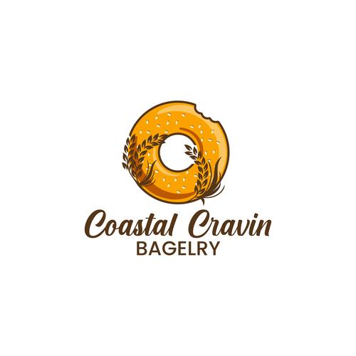 Bagel logo with the title 'Logo Design for Bagel Shop'