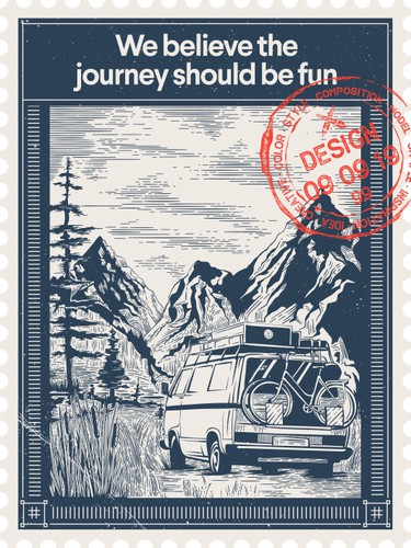 Journey design with the title 'We believe the journey should be fun'