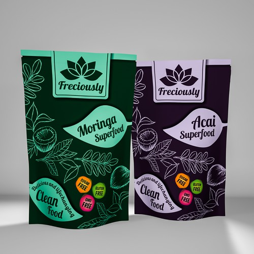 Hand-drawn packaging with the title 'Hand-drawn package style'