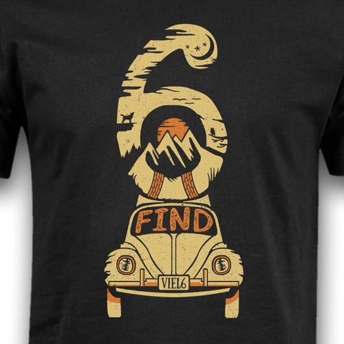 Retro t-shirt with the title 'Find 6 '
