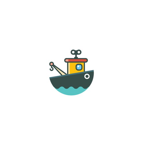 Boat logo with the title 'Clean and playful logo for online retail store'