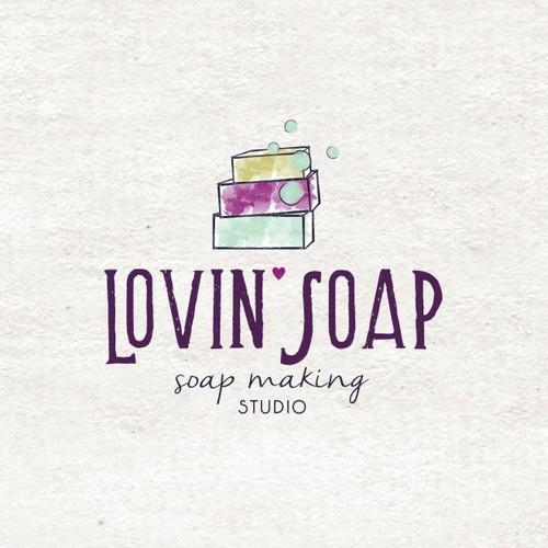Soap design with the title 'LOVIN STUDIO SOAP'