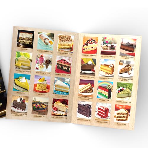 Dessert design with the title '(2018) Brochure design for Taste It Presents, Inc.'