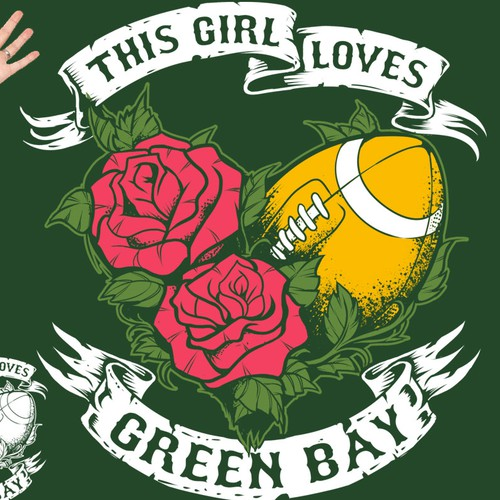 Adventure t-shirt with the title 'Girl Loves Green Bay '