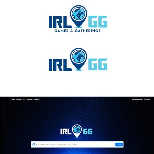 Recreation logo with the title 'IRL.GG - Games & Gatherings '