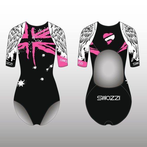 Cycling design with the title 'SWOZZI triathlon suite'