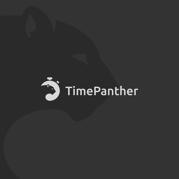 Stopwatch logo with the title 'TimePanther'