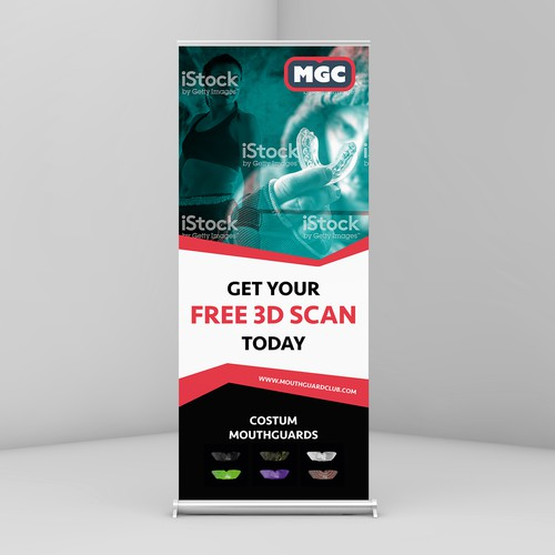 Rollup design with the title 'Rollup Banner'