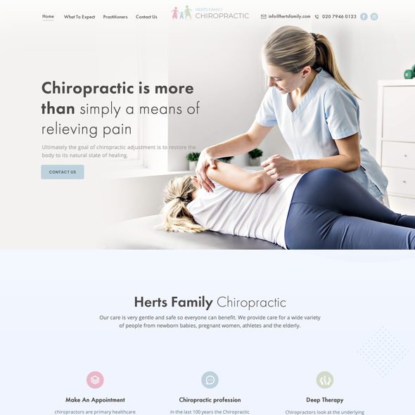 Massage design with the title 'Creative Landing Page Design'