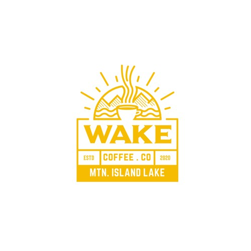 Sunrise design with the title 'Nicely crafted luxury coffee logo'