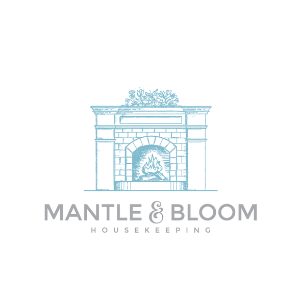 Charming logo with the title 'Logo design for Mantle and Bloom'