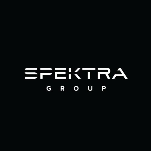 Black logo with the title 'Spektr Group Logo'