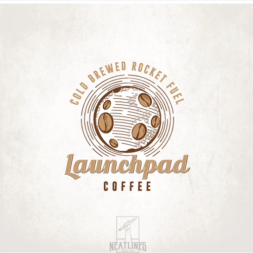 Black and brown logo with the title 'Launchpad Coffee'