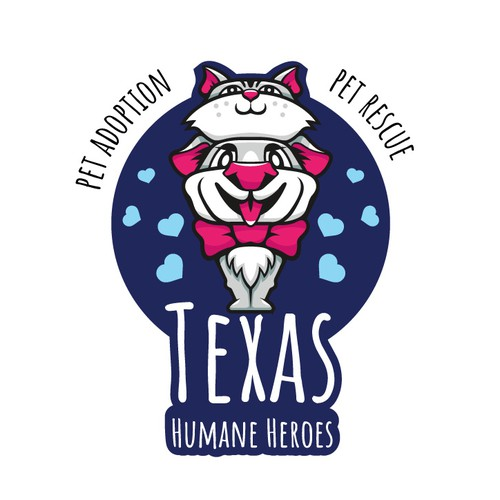 Cute t-shirt with the title 'Texas Humane Heroes'
