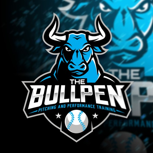 Esports logo with the title 'The Bullpen Pitching and Performance Training'