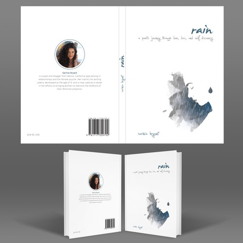 Rain design with the title 'Book cover design'