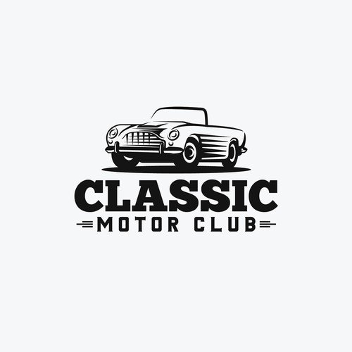 Motor design with the title 'Classic Motor Club'