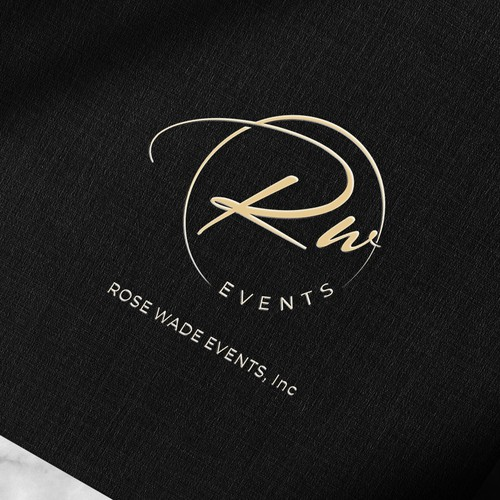 Wedding planner logo with the title 'Rose Wade Events, Inc Logo'