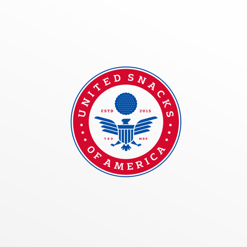 Snack logo with the title 'UNITED SNACKS OF AMERICA'