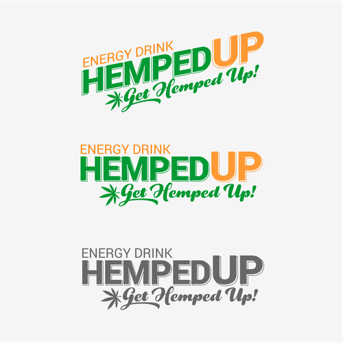 Green and orange logo with the title 'Hemped Up logo'
