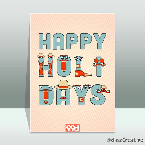 Happy holidays design with the title 'Cool Holiday Card'