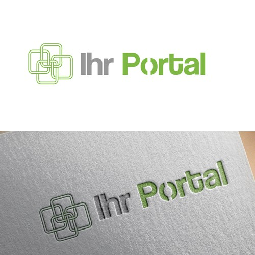 Outsourcing logo with the title 'Logo proposal for internet sourcing company'