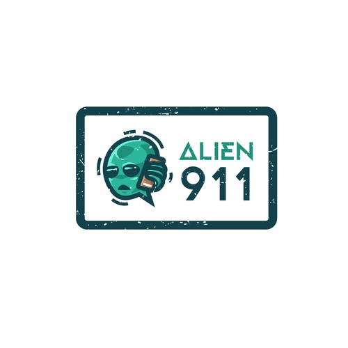 Emergency design with the title 'Logo concept for Alien 911 game'