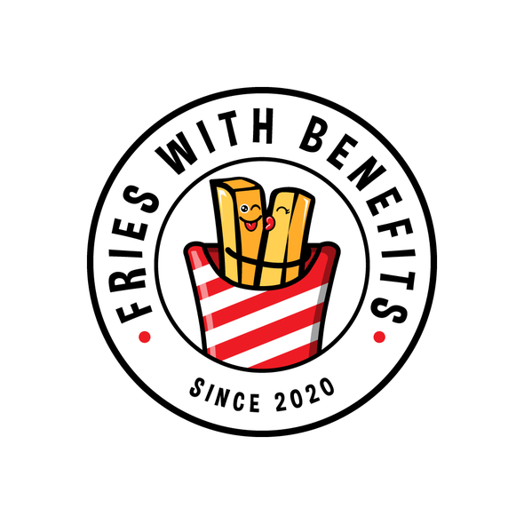 French fries logo with the title 'French Fries Food truck Logo'