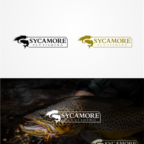 Streamer design with the title 'Fishing logo'