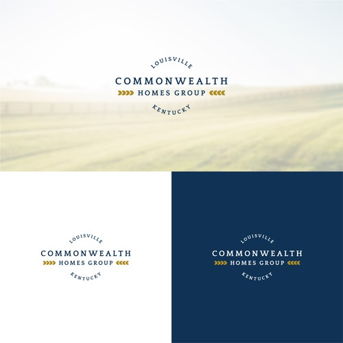Navy logo with the title 'Commonwealth Homes Group'