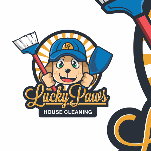 Cub logo with the title 'Lucky Paws'
