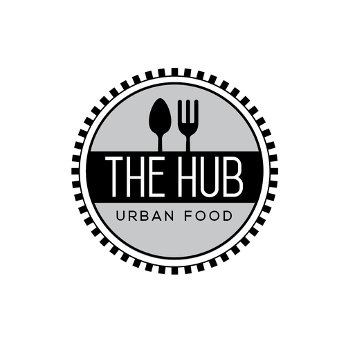 Foodie logo with the title 'Bold Clean Deisgn for Urban Food Hub'