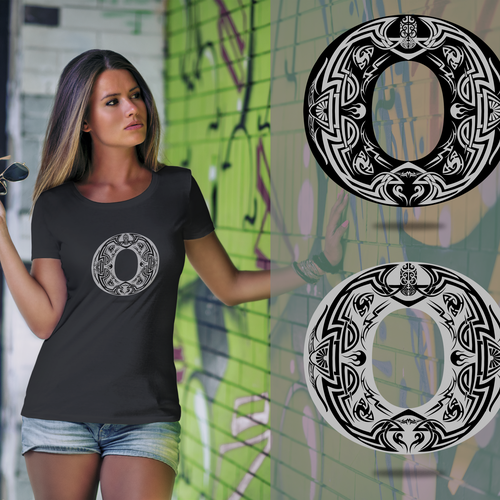 Tribal t-shirt with the title 'Tribal O'
