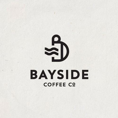 Coffee house logo with the title 'BAYSIDE'
