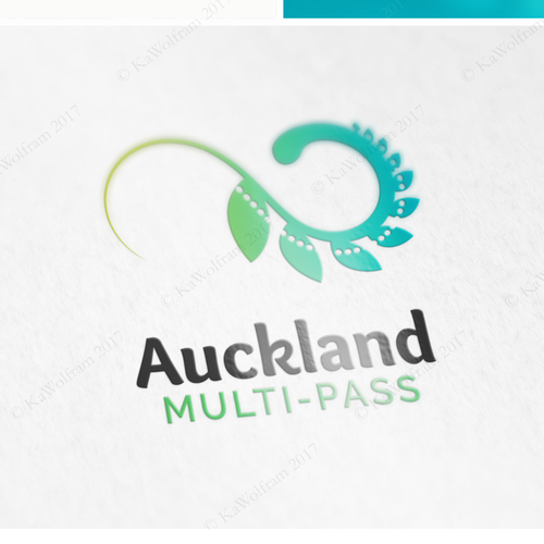 Fern design with the title 'logo for multi-ticket service in New Zealand'