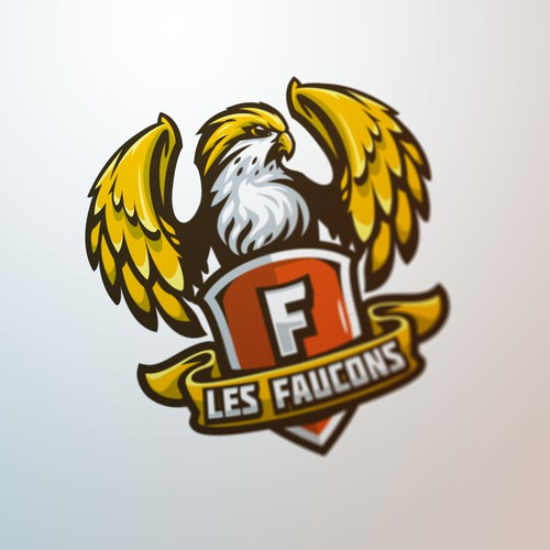 Predator design with the title 'Les Faucons'