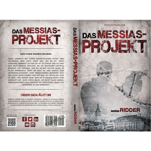 Gray book cover with the title 'Das Messias-Projekt'