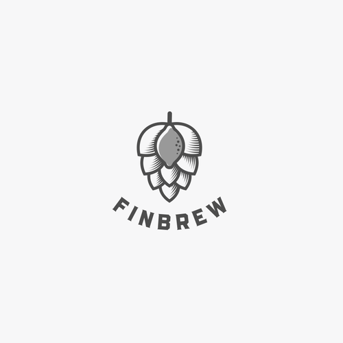 Beer logo with the title 'A New Brand For FinBrew '
