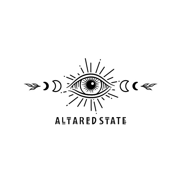 Celestial logo with the title 'Logo for 'Altared State''