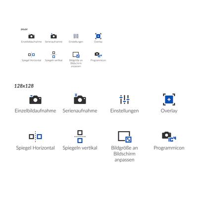Icondesign für Software-Bedieneroberfläche