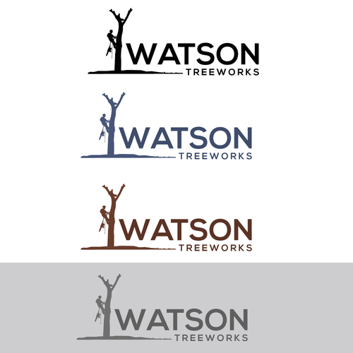 Human figure logo with the title 'Logo for Watson Treeworks'