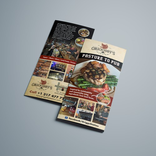 Handout design with the title 'Griggsby's Brochure'