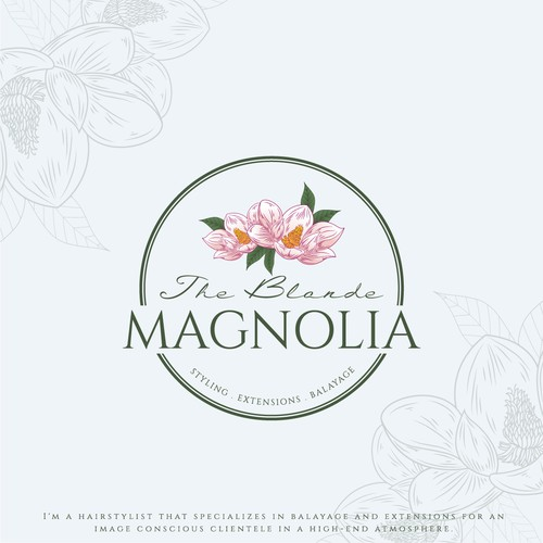Magnolia logo with the title 'The Blonde Magnolia'