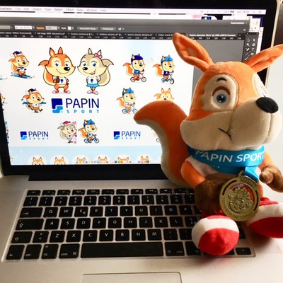 mascot, medal and puppet