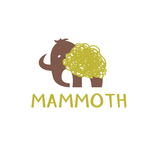 Green and brown design with the title 'Mammoth'