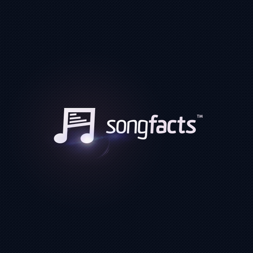 Record logo with the title 'Logo design for songfacts™'